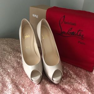 Authentic Patent Nude Loubs.
